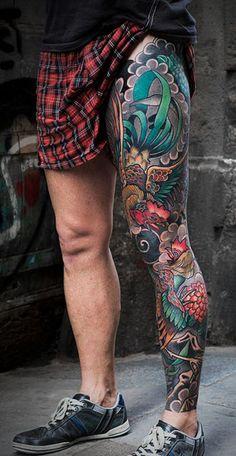 Para los que tenemos muchos tattoos en las piernas ¿te gustan? For those of us who have many tattoos on their legs, do you like them? Japanese Leg Tattoo, Japanese Legs, Japanese Sleeve Tattoos, Calf Tattoo Men, Leg Sleeve Tattoo, Tattoo Sleeve Designs, Life Tattoos, Body Art Tattoos, Tattoos For Guys