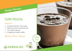 Protein Shake At Home, Protein Shake Recipes, Smoothie Recipes, Protein Shakes, Healthy Smoothies, Healthy Food, Healthy Eating, Chocolate Herbalife Shakes, Chocolate Shake