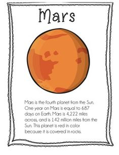 Planet Info Sheets by Liza Gosselin Solar System Science Project, Solar System Activities, Solar System For Kids, Space Activities For Kids, Space Preschool, Science For Kids, Science Projects, School Projects, Earth Science