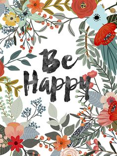 be happy - Illustrator Mia Charro