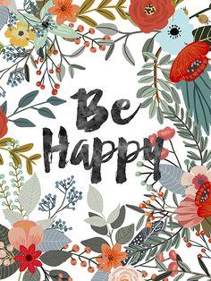 be happy - Illustrator Mia Charro