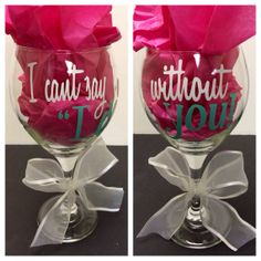 "LOVE THIS! - I can't say ""I do"" without you, will you be my bridesmaid? - wine glass. only $12 / what a thoughtful way to ask."