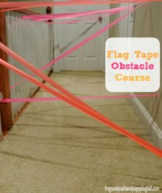Flag Tape Obstacle Course