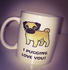 Pug mug love #valentines gift dog #lover cup,  View more on the LINK: 	http://www.zeppy.io/product/gb/2/322408971044/