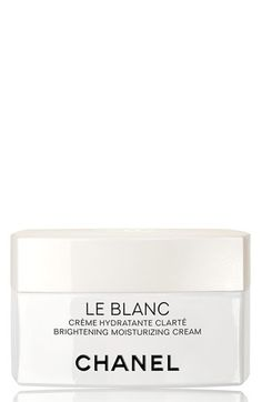 Chanel Le Blanc Brightening Moisturizing Cream. The Moisturizing Cream delivers triple action: It intensifies dark-spot correction, offers optimal hydration and provides immediate comfort