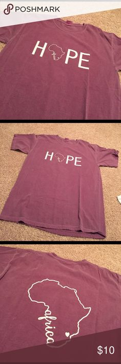 Africa Hope Mission Trip T-Shirt! Africa Hope Mission Trip T-Shirt! Size: Large!! Worn several times but still in good condition!!! 100% cotton! comfort colors Tops Tees - Short Sleeve