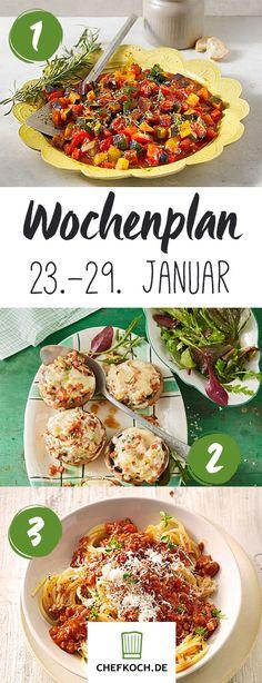 Chefkoch Wochenplan