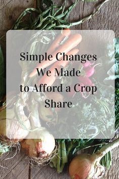 Want to eat organic but think you can't afford it? A crop share or CSA can be a very affordable option. Read 6 simple changes you can make to work the CSA into your food budget and eat better for less! -- from ThePeacefulMom.com