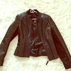 100% Leather gold jacket bought at urban outfitters in perfect condition Jackets & Coats