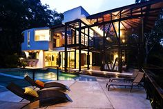 ♥ Amazing Modern House with Large Windows and Glass Walls, Costa Rica     DesignRulz.com
