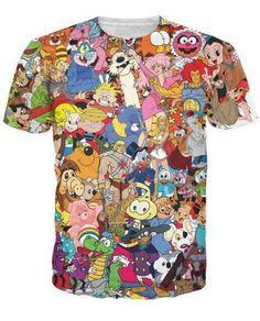 Oldschool Cartoon Shirt · Coole ShirtsWeihnachten T-shirtKlassischer  FernseherLässige ... 6a9b2a224d