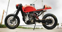 """KTM 525 Supermoto based Cafe Racer by """"RSD"""" Roland Sands Design all hand made out of aluminum . There calling it a """"Cafe Moto"""" Ktm Cafe Racer, Cafe Racer Moto, Inazuma Cafe Racer, Cafe Racers, Racing Motorcycles, Vintage Motorcycles, Custom Motorcycles, Ktm 525 Exc, Ktm Supermoto"""