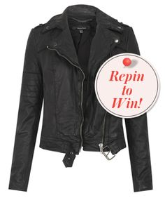 Repin to win a super-luxe leather Muubaa jacket! #r29leatherjacket