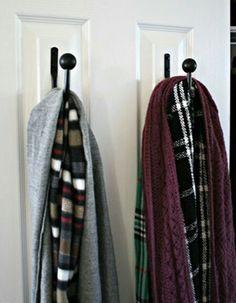 Organizing Scarves with Curtain tie-backs | Scarf Organization | Organize Scarves