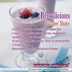 ViSalus Berrylicious Shake Recipe!