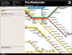 #mta shows weekend #subway services change. #transportation