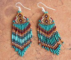 Jewelry Navajo - Navajo Indian Silver Beaded Earrings