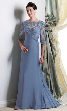 Montage Boutique Chiffon A-Line MOB Dress