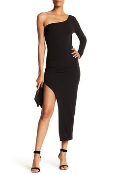 One-Shoulder Asymmetrical Dress by Symphony on @HauteLook