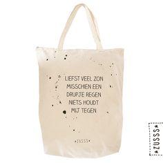 Zusss | Boodschappentas katoen spetter | http://www.zusss.nl/product/zusss-boodschappentas-katoen-spetter/