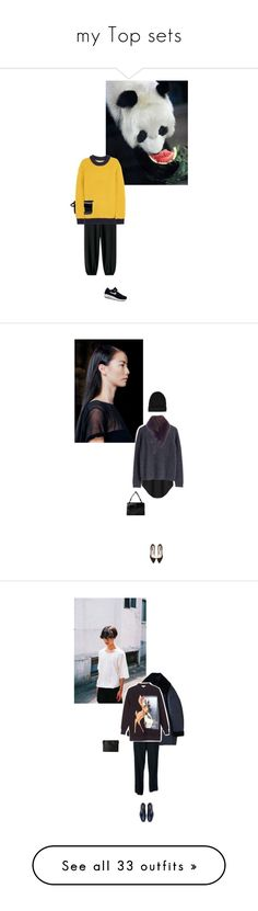 """""""my Top sets"""" by vintagepage ❤ liked on Polyvore featuring CÉLINE, Balenciaga, J.W. Anderson, NIKE, Helmut by Helmut Lang, Les Copains, MTWTFSS Weekday, Zara, Bottega Veneta and Marc Jacobs"""