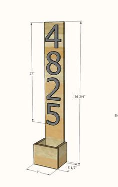 House Numbers Vertical Planter from Cedar Fence Pickets - House Numbers Vertical Planter from Cedar Fence Pickets Ana White Diy Planter Box, Vertical Planter, Diy Planters, Cedar Fence Pickets, Diy Fence, Fence Ideas, Diy Outdoor Furniture, Diy Furniture, Outdoor Decor