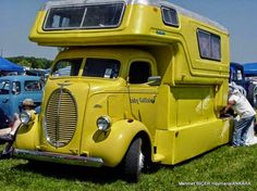 uploaded this image to 'COE trucks'. See the album on Photobucket. Vintage Rv, Vintage Caravans, Vintage Travel Trailers, Vintage Trucks, Vintage Campers, Camper Caravan, Truck Camper, Camper Trailers, Camper Van