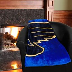 St. Louis Blues Jersey Plush Blanket - Royal Blue