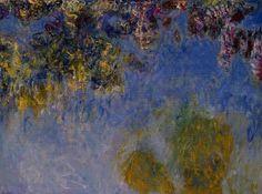 Acheter Tableau 'Wisteria' de Claude Monet - Achat d'une reproduction sur toile peinte à la main , Reproduction peinture, copie de tableau, reproduction d'oeuvres d'art sur toile