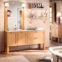 Cottage Jardin d'hiver, la collection de meubles de salle de bains idéale pour une pièce d'eau naturelle. Pierre, bois et lin se marient à merveille.