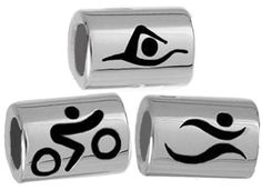 Reward your Triathlon achievements with these stunning sterling silver charms.  One charm, 3 sports.  Will fit Pandora.  Also available in Ironman distances $49