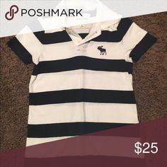 Abercrombie & Fitch Polo Shirt EUC. White/Navy striped collar shirt. Muscle fit. Abercrombie & Fitch Shirts & Tops Polos