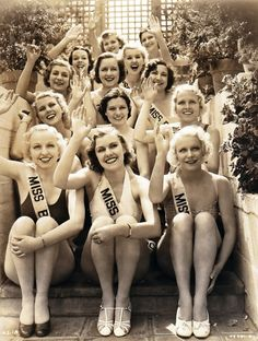 1930's Beauty Pageant Contestants. When contestants still looked like normal humans.