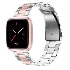 High Quality -- Fit for the Silver/Black/Rose Gold Versa Smartwatch.The Band is made of premium stainless steel material.Makes your Versa band elegant. Ultra-thin And Lightweight -- The band is Ultra-thin and only Smartwatch, Bracelet Fitbit, Fitness Wristband, Stainless Steel Bracelet, Watch Bands, Accessories, Free Shipping, Watches, Mobile Phones