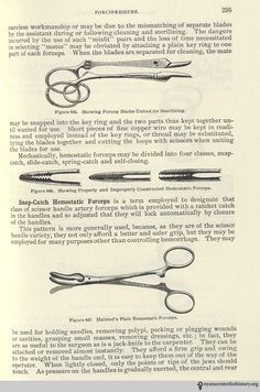 Forceps. From Charles Truax's The Mechanics of Surgery, ed. James M. Edmonson (1899; reprint ed., San Francisco: Norman Publishing, 1988). Click to enlarge.