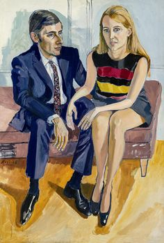 "ALICE NEEL - ""David McKee and His First Wife, Jane"" (1968)"