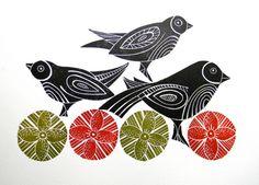 Black Birds by Mangle Prints
