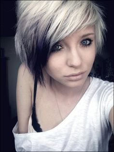 white blonde, i would go brown underneath instead of the black