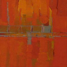 boat yard sunset - oil on canvas by Steven Heffer
