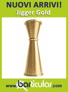 Japanese jigger ORO - la linea giapponese e la linea oro si fondono in un unico oggetto elegante. http://www.barticular.com/store/japanese-jigger-gold