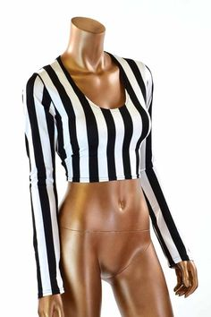 28baf5ea71bba Long Sleeve Referee Black   White Stripe Print by CoquetryClothing Referee