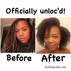 I Combed Out My Locs After 27 Years! is part of I Combed Out My Locs After Years Golden Jordan - As I write this, I am completely unloc'd! It is a wonderful freeing feeling and my head feels so light haha Coiling Natural Hair, Natural Dreads, Natural Hair Twists, Natural Hair Styles, Fine Natural Hair, Natural Beauty, Short Locs Hairstyles, Short Dreads, Little Girl Hairstyles