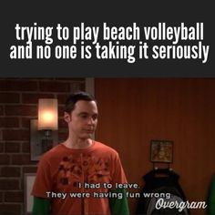 #14 make a volleyball meme by Leah Llewellyn