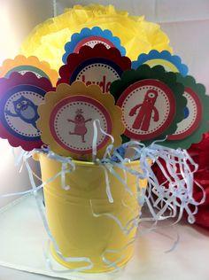 Yo Gabba Gabba Cupcake Toppers (Set of 12). $10.95, via Etsy.