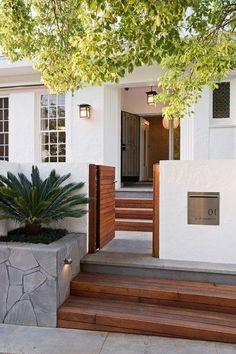 32 Ideas Modern House Entrance Design For 2020 Home Entrance Decor, Entrance Design, House Entrance, Patio Entrance Ideas, Entrance Signage, Entrance Doors, Small House Design, Modern House Design, Simple House Exterior