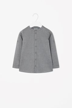 Granddad collar printed shirt