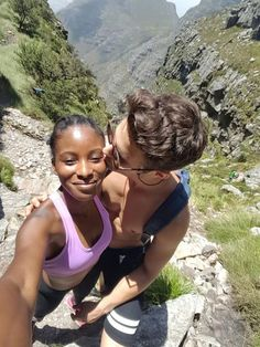 Loving this girl more every single day! This is a selfie from halfway up table Mountain. We were both so happy and excited to reach the top After a hike/rockclimb Interacial Love, Interacial Couples, Black Woman White Man, Black And White Love, Mixed Couples, Black Couples, Couple Goals Relationships, Relationship Goals Pictures, Feelings