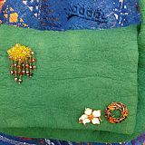 Crafts of the World Online, arts and crafts from around the world  Wool Felt Shoulder Bag with /without 70s retro Broaches  from £37.00, free delivery  www.craftsoftheworldonline.com