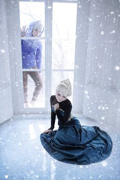 RotG's Jack Frost (Silrest실레스트) with Forzen's Elsa (Wise님) #cosplay