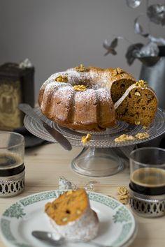 Gâteau patate douce cannelle et noix, au sirop d'érable